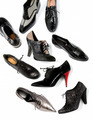 Black masculine female shoes still life fashion composition - PhotoDune Item for Sale