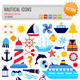 43 Nautical Icons - GraphicRiver Item for Sale