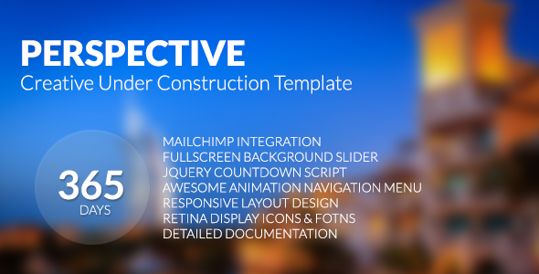 Perspective – Creative Under Construction Template