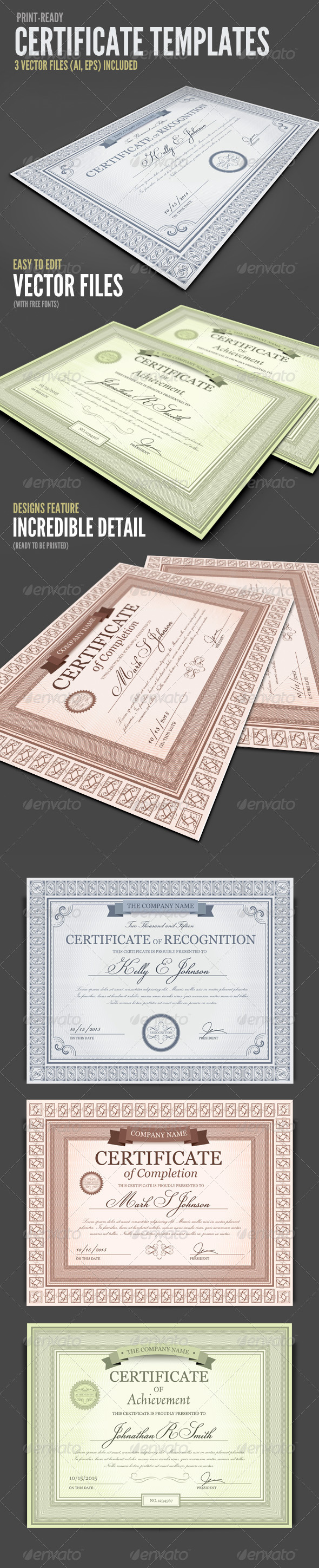 Certificate Templates & Designs from GraphicRiver