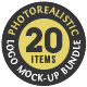 20 Photorealistic Logo Mock-Ups Bundle - GraphicRiver Item for Sale