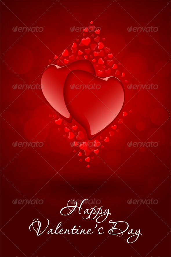Red Hearts Valentine's Day Card