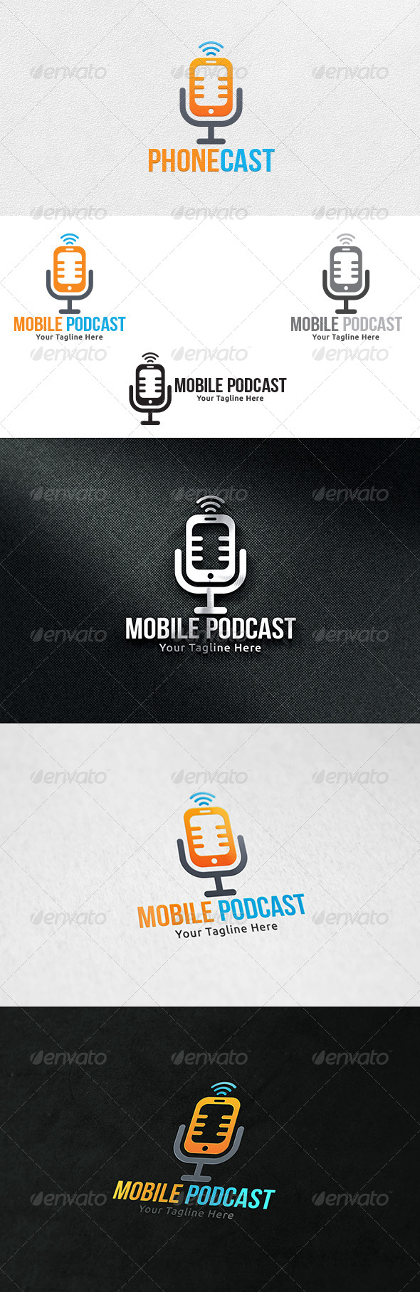 Mobile Podcast - Logo Template