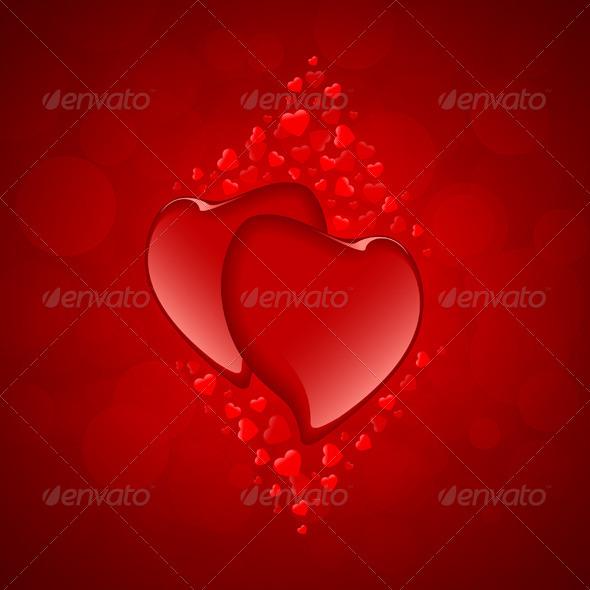 Red Hearts Valentine's Day Background