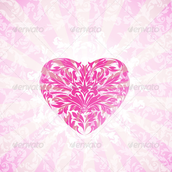 Happy Valentine's Day Floral Background
