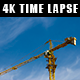 Crane on Top of Building with Passing Clouds - VideoHive Item for Sale