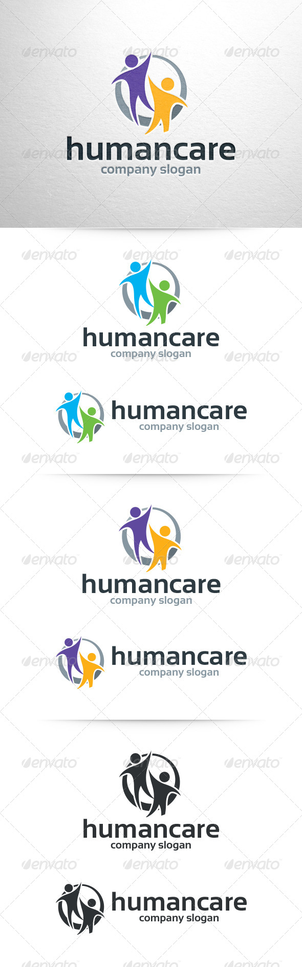 Human Care Logo Template