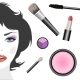 Set for Makeup and Female Face - GraphicRiver Item for Sale