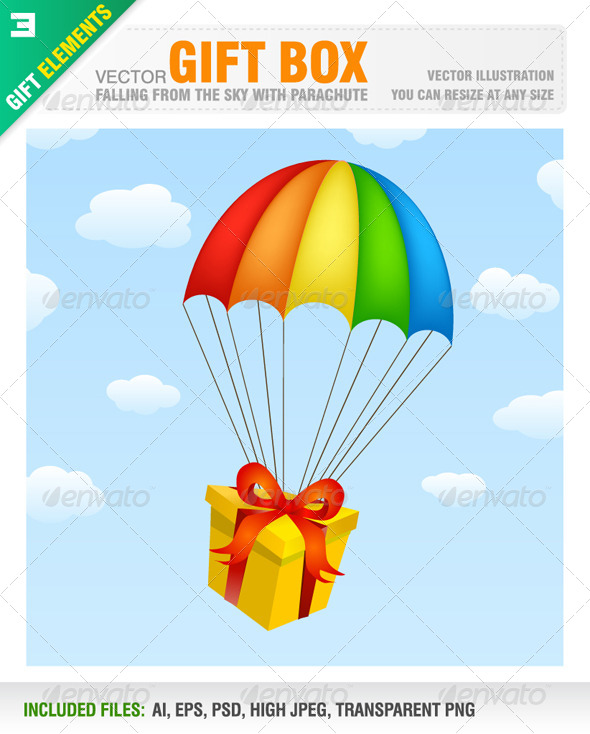 Gift Box with Parachute