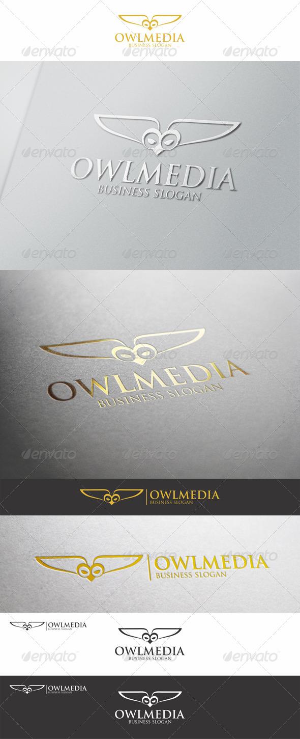 Owl Media Logo Template