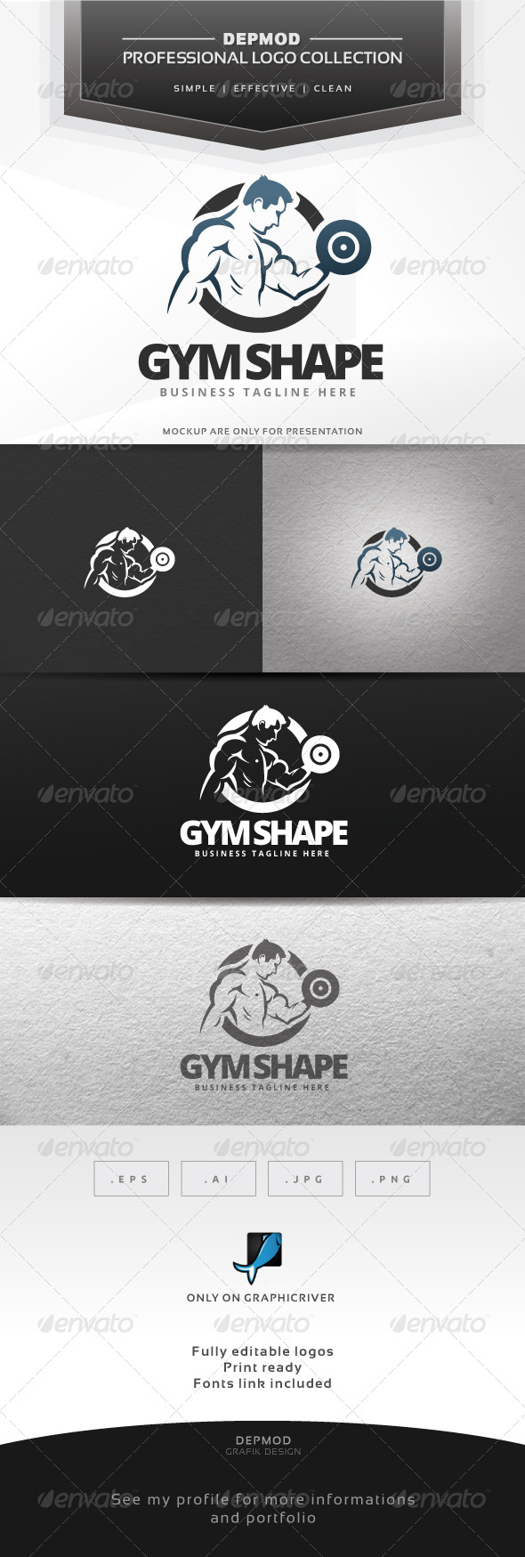 Gym Shape Logo