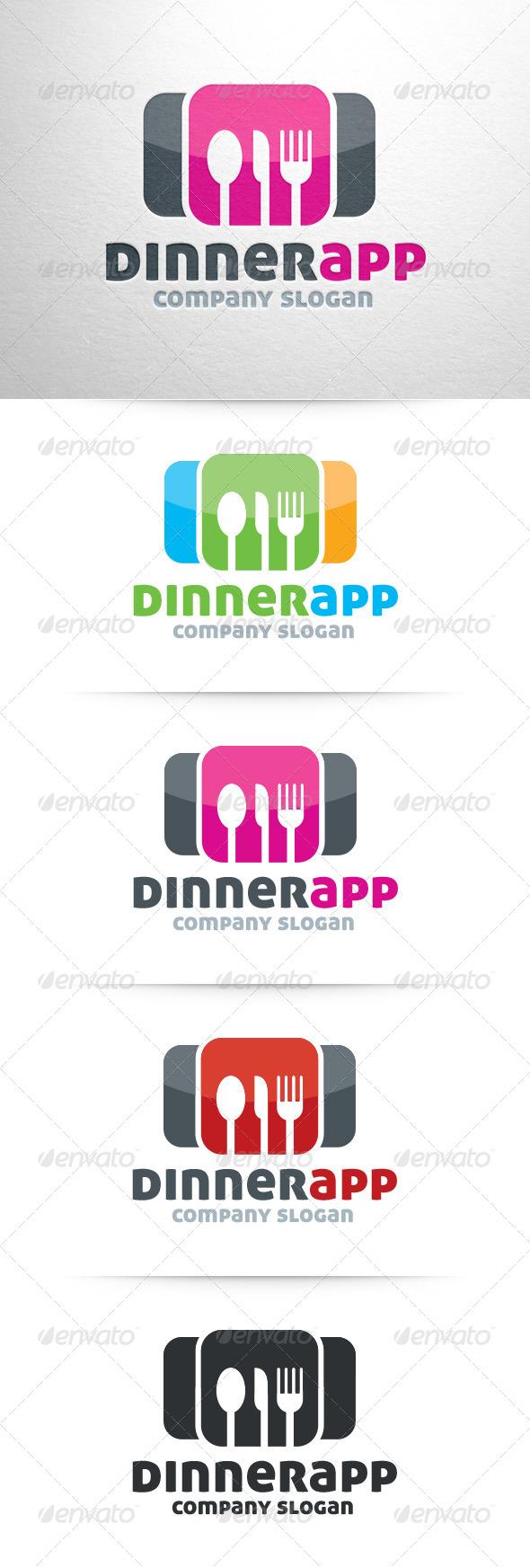 Dinner App Logo Template