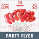 Valentine Red and White Party Flyer - GraphicRiver Item for Sale
