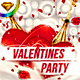 Minimal Valentines Party Flyer Template - GraphicRiver Item for Sale