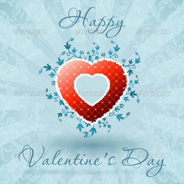 Happy Valentine's Day Floral Card