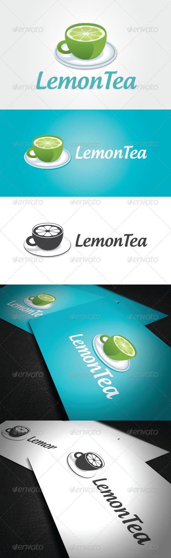 Lemon Tea Logo Template