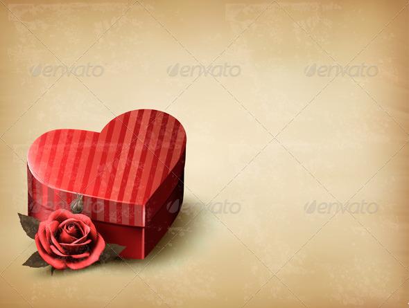 Holiday Vintage Valentines Day Background
