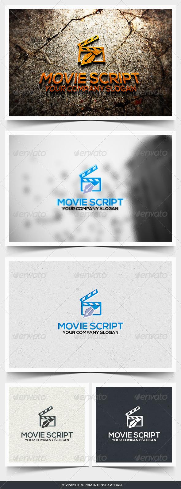Movie Script Logo Template