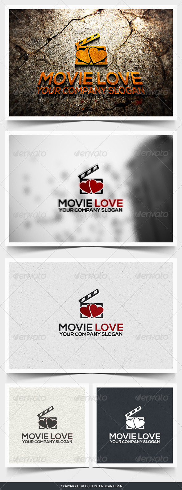 Movie Love Logo Template