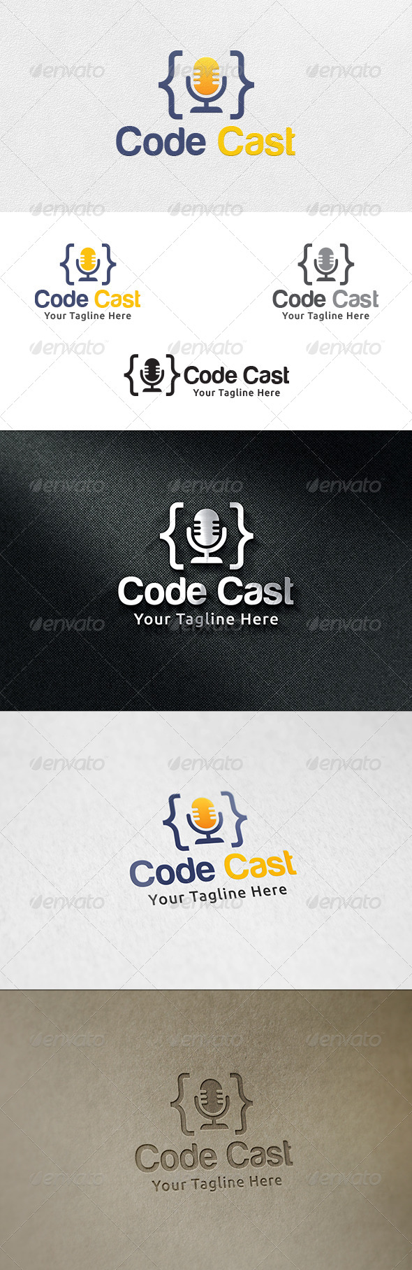 Code Cast - Logo Template