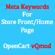 Meta Keywords For OpenCart Store Home Page - vQmod - CodeCanyon Item for Sale