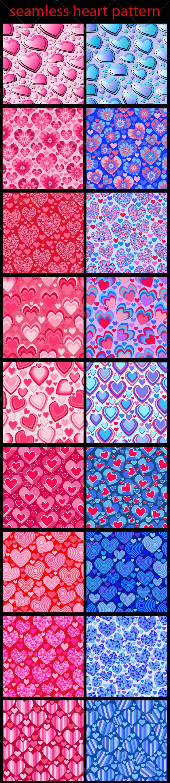 Seamless Heart Patterns