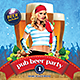 Pub Beer Party Flyer or Invitation - GraphicRiver Item for Sale