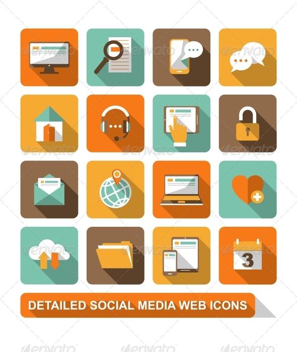 Social, Media, Web Icons