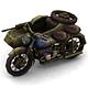 Military Modern War Motorcycle (Blue) - 3DOcean Item for Sale