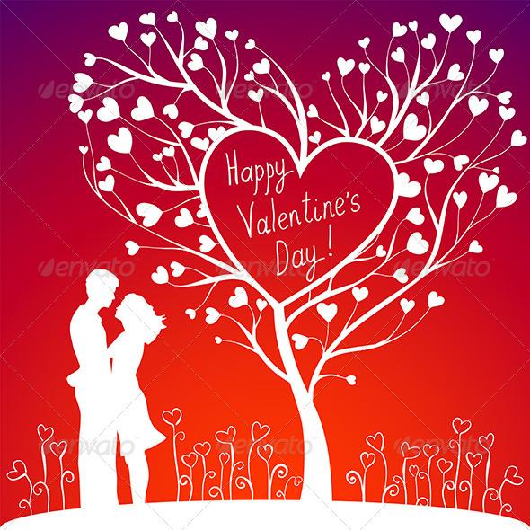 Couple with Valentines Tree