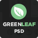 GreenLeaf One Page Web + Blog PSD Template - ThemeForest Item for Sale