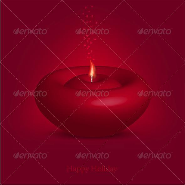 Candle for Happy Holiday