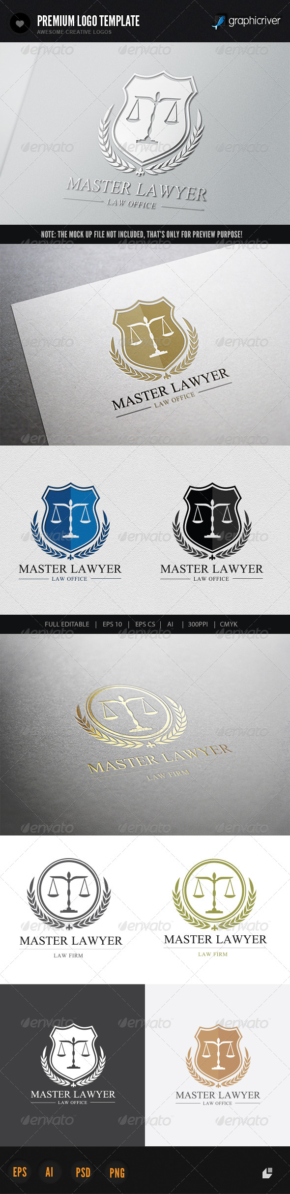 Lawyer Logo Graphics, Designs & Templates from GraphicRiver
