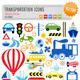 Transportation Icons - GraphicRiver Item for Sale