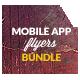 Bundle 3x Mobile App Promotion Flyers / Phone App - GraphicRiver Item for Sale