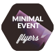 Minimal Typography Event Flyers / Concert Posters - GraphicRiver Item for Sale