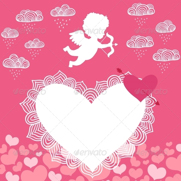 Valentines Day Angel with Bow Flyer