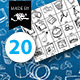 20 Hand Drawn Digital Photography Brushes - GraphicRiver Item for Sale