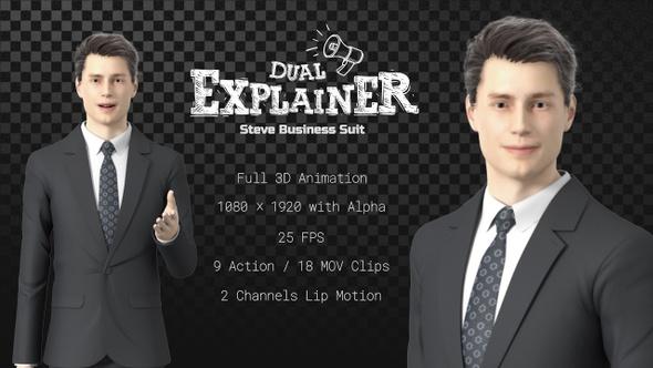 Dual Explainer Steve Business Suit
