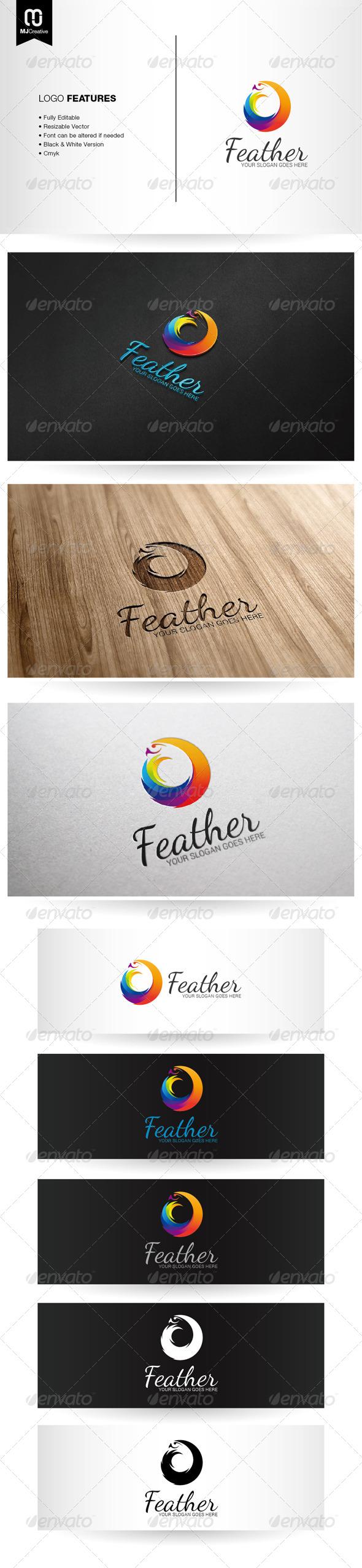 Abstract Colorful Bird Logo