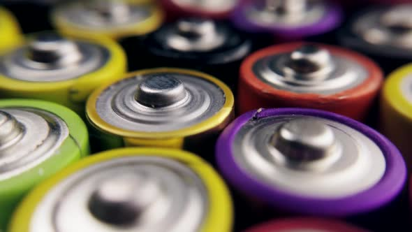 Lots of Alkaline Used AAA Batteries Background