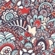 Doodle Seamless Print Floral Background - GraphicRiver Item for Sale