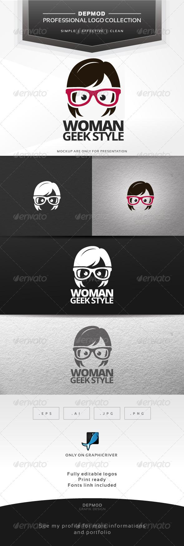 Woman Geek Style Logo