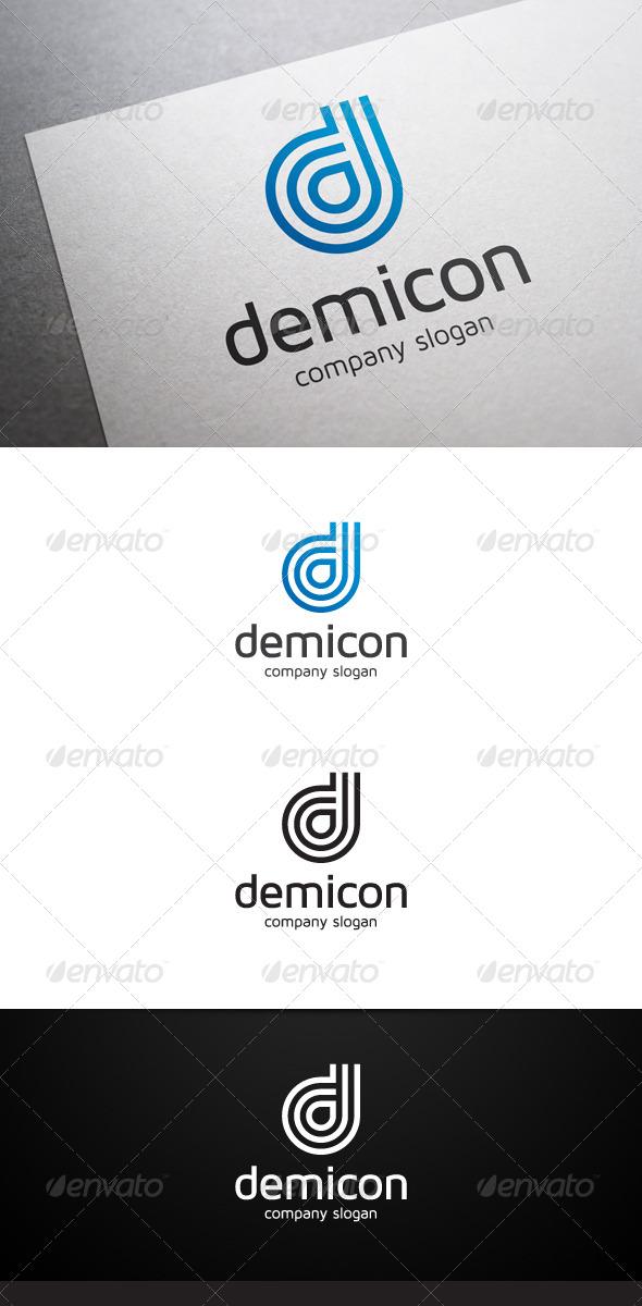 Demicon D Letter Logo