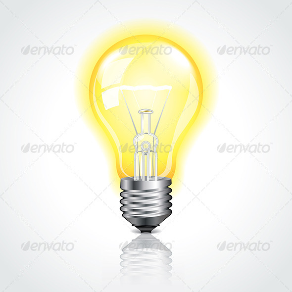 Glass and Lightbulb Graphics, Designs & Templates