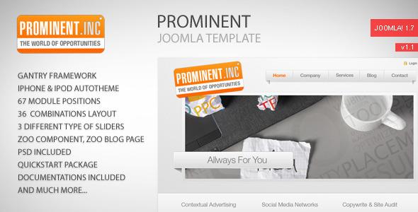 Prominent - Joomla Template