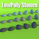 LowPoly Stones .Pack1 - 3DOcean Item for Sale