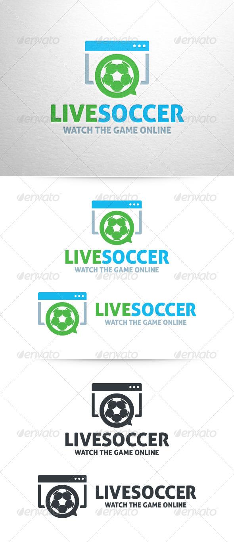 Live Soccer Logo Template
