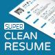 Super Clean Resume - GraphicRiver Item for Sale