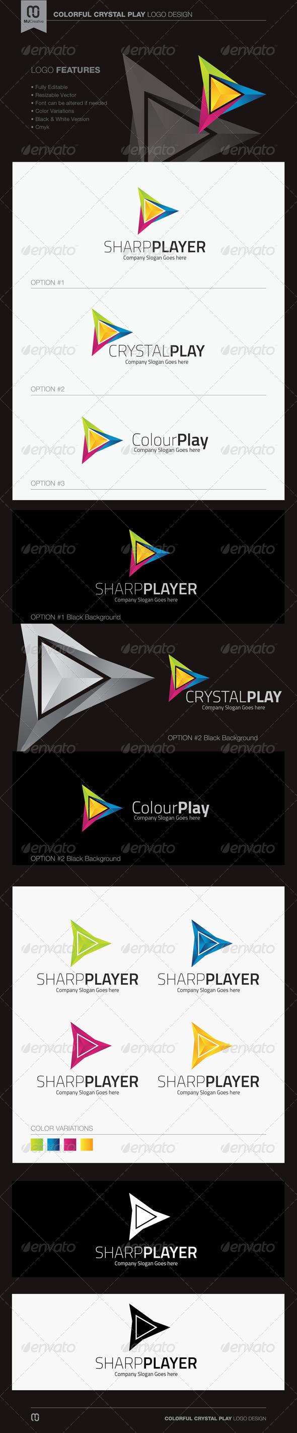 Colorful Crystal Play Logo